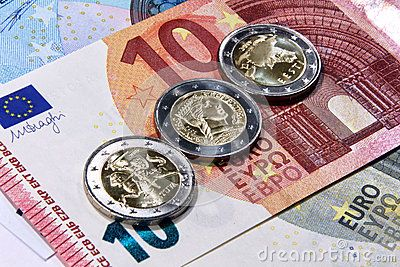 Original photo 2 euro from baltic countries