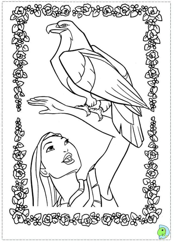 Pocahontas Coloring Sheets | Pocahontas Coloring page- DinoKids.org ...