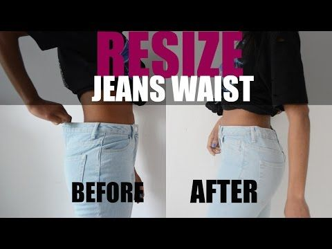 0985e325 Watch How She Easily Alters The Waist Of Her Jeans So They Will Fit. - DIY  Joy