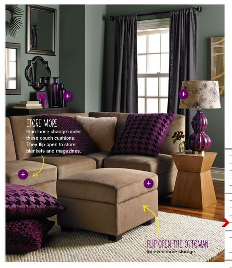 Love The Colors In This Room Purple Living Room Living Room Color Living Room Colors