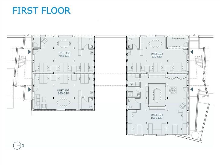 Plano oficinas box office con contenedores 11 arq for Diseno de oficinas con contenedores