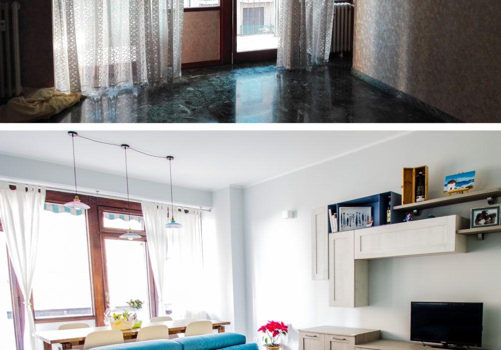 prima e dopo soggiorno ciesse blu interior design | CIESSE ...