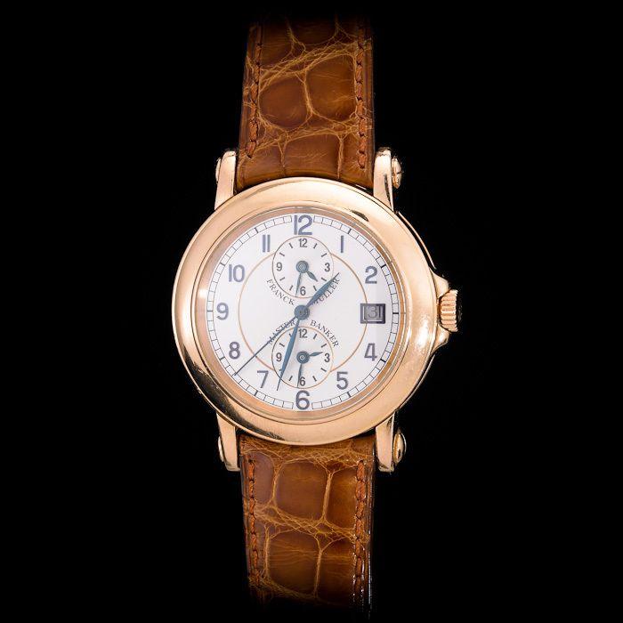 Franck Muller 18K Rose Gold Master Banker Triple Time Zone. Large 7000MB Size