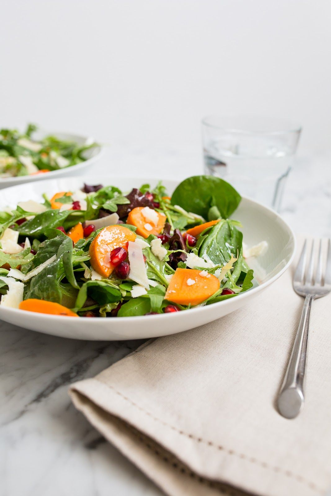 Persimmon and Pomegranate Salad- great for fall / See and Savour
