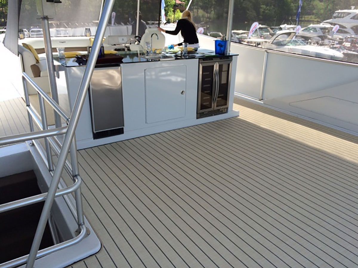 Gray Marine Vinyl Flooring Pontoon Better Than Teak 14 8 5 X 5 House Boat Vinyl Flooring Pontoon