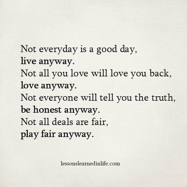 Play Fair Anyway Life Quotes Frases Pensamientos Vida