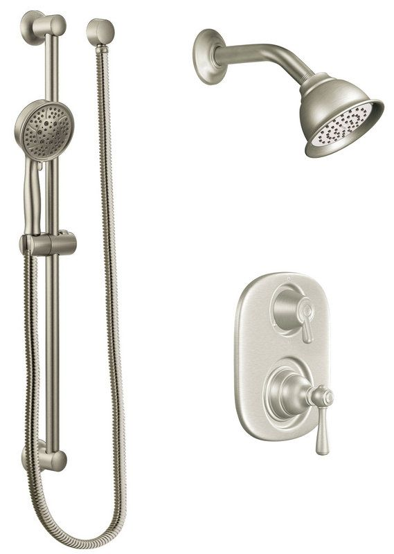 View The Moen 602sep Pressure Balanced Shower System With 1 75 Gpm Head Diverter