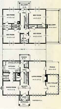 Standard Home Plans For 1926 The Haverhill Two Story House Plans New House Plans House Plans