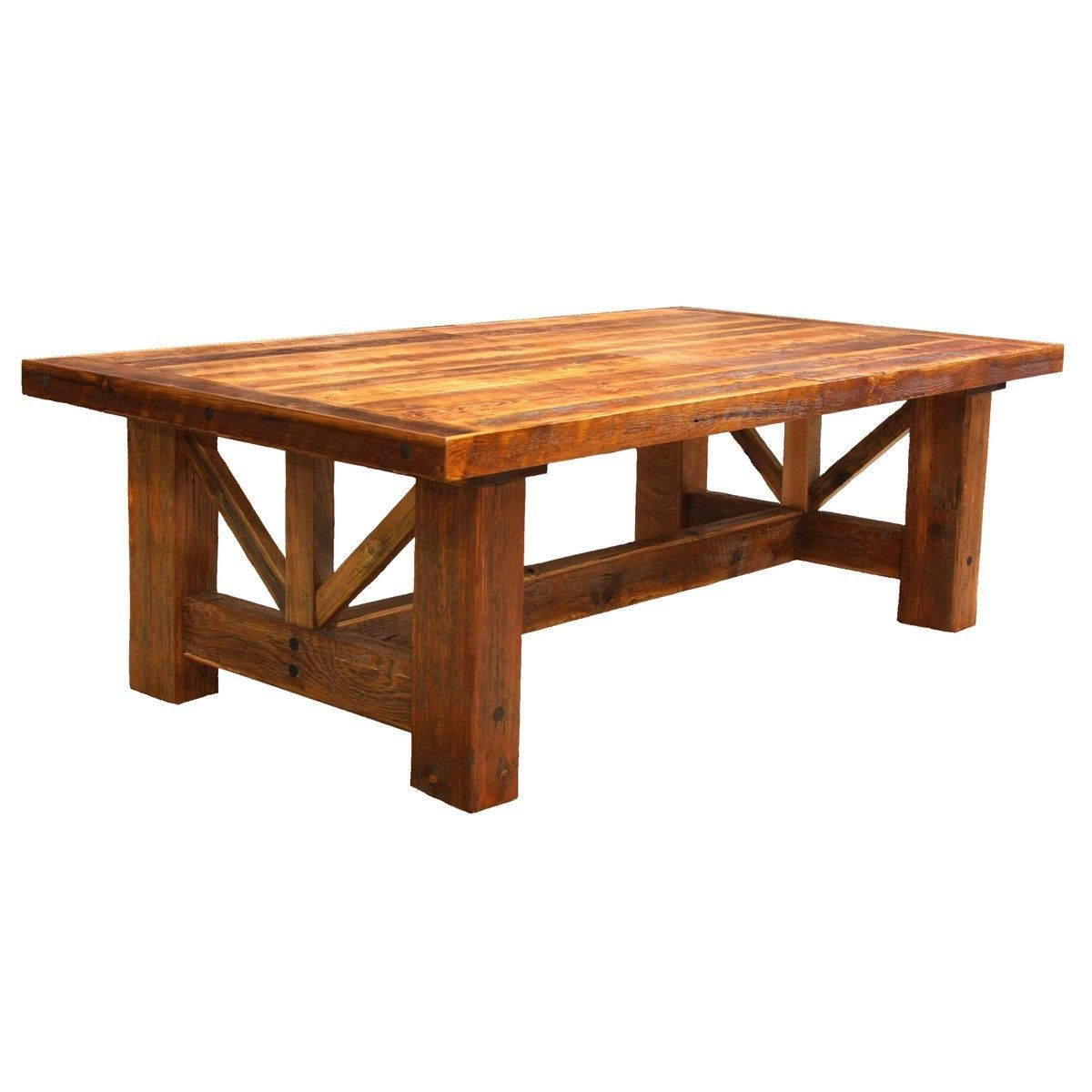 Log Kitchen Table: Details About Western Trestle Table
