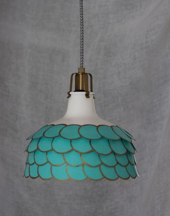 Tiffany Blue Modern Hanging Ceiling Light Shabby Chic