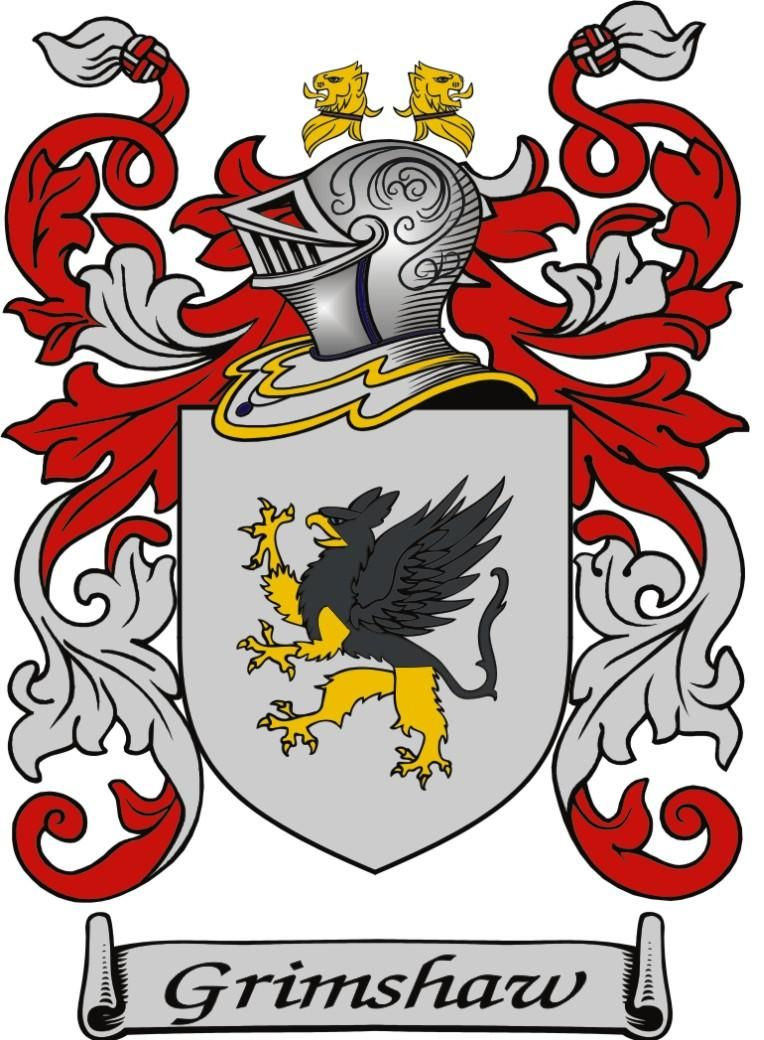Grimshaw Heraldry Coat Of Arms Shield Tattoo
