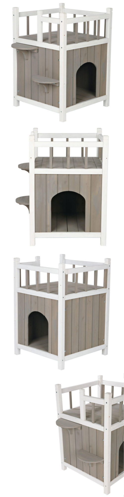 Cat Lover Products 117422: Cat House Furniture 2 Story Play ...