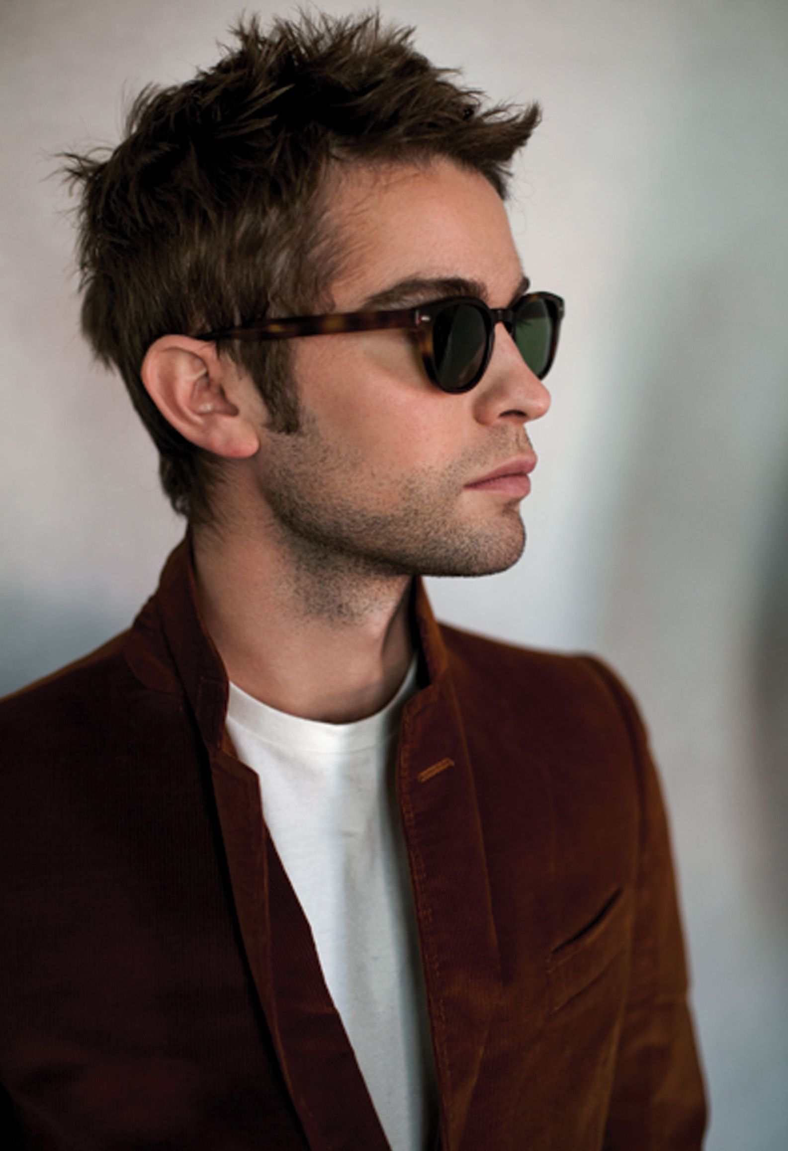 5856a71fa7 Chace Crawford in Sheldrake via L Officiel magazine (France) Oliver Peoples