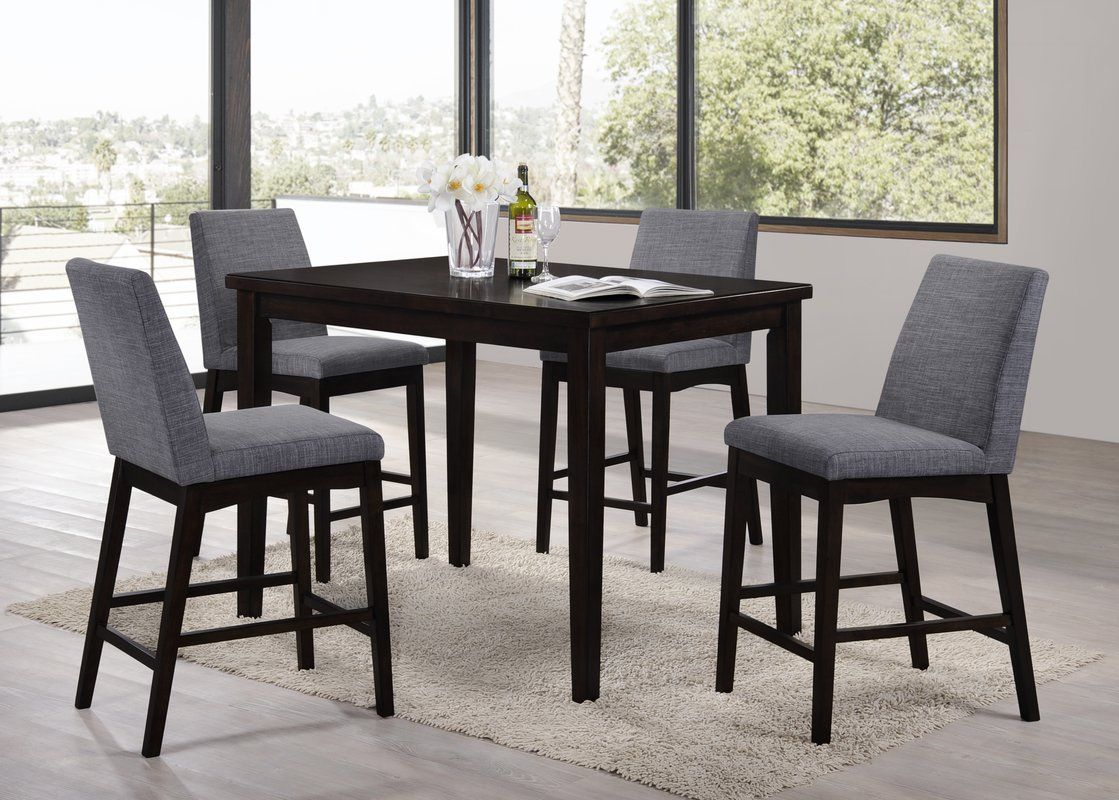 Trotwood 5 Piece Bar Height Dining Set Counter height dining sets