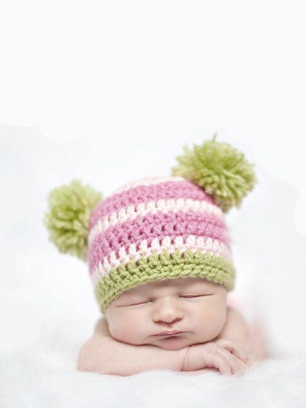 Double Pom Hat Diy Pom Poms Pinterest Crochet Crochet Hats