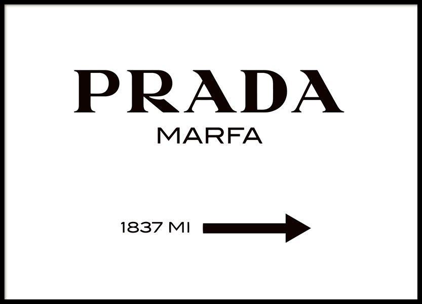 P ster con el letrero de prada marfa room pinterest for Roca prada t