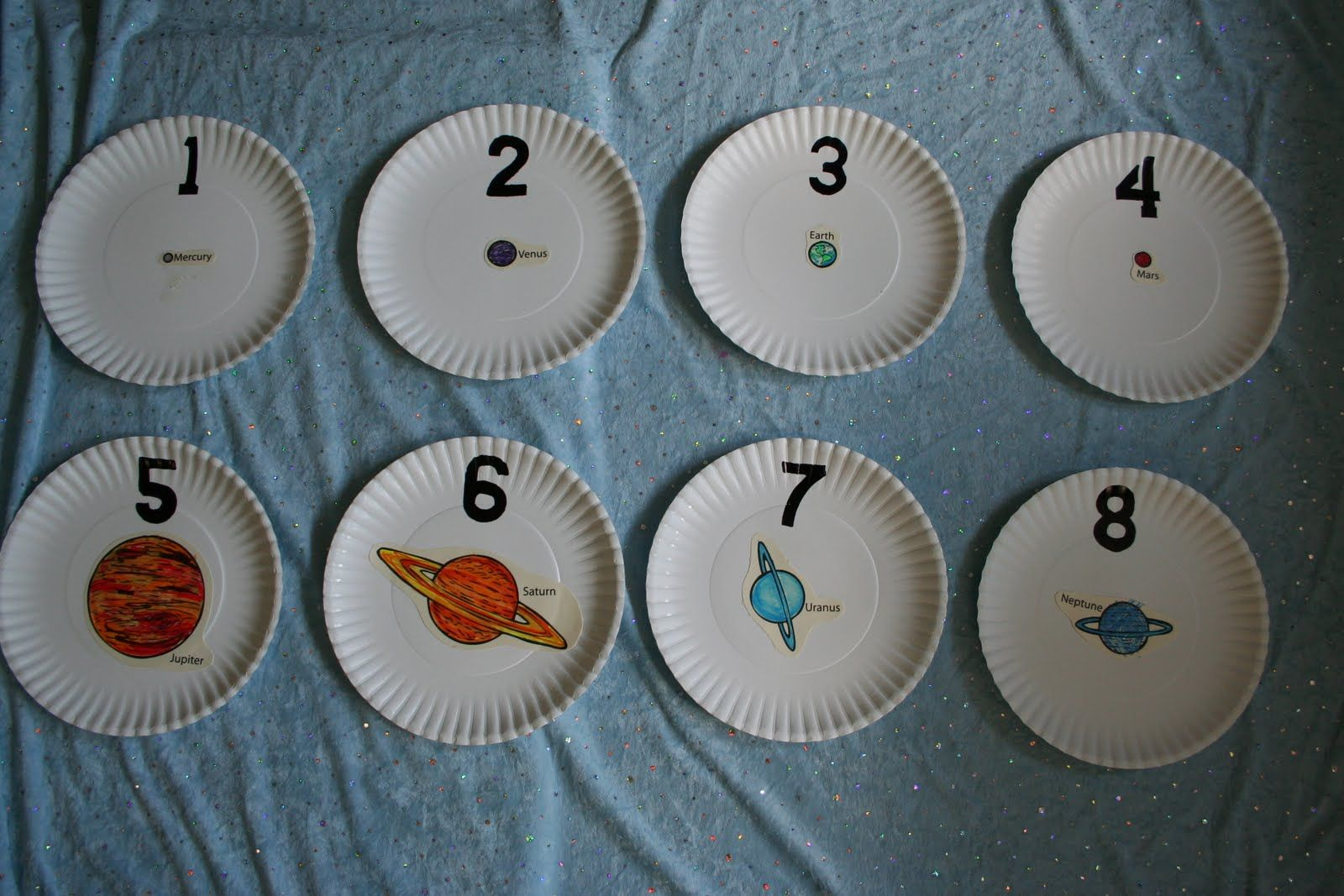 Outer Space Planet Counting Plates And Preschool
