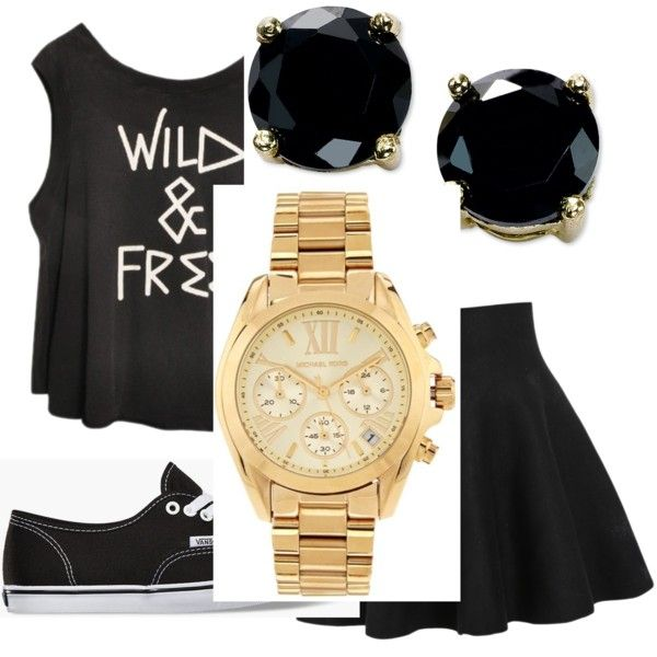 Untitled #2 by nicolehenderson518 on Polyvore featuring polyvore fashion style Vans Michael Kors B. Brilliant