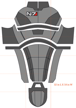Mass effect 2 templates and how to videos cosplays for Mass effect 3 n7 armor template