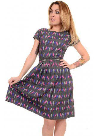 Run & Fly Budgie Tea Dress