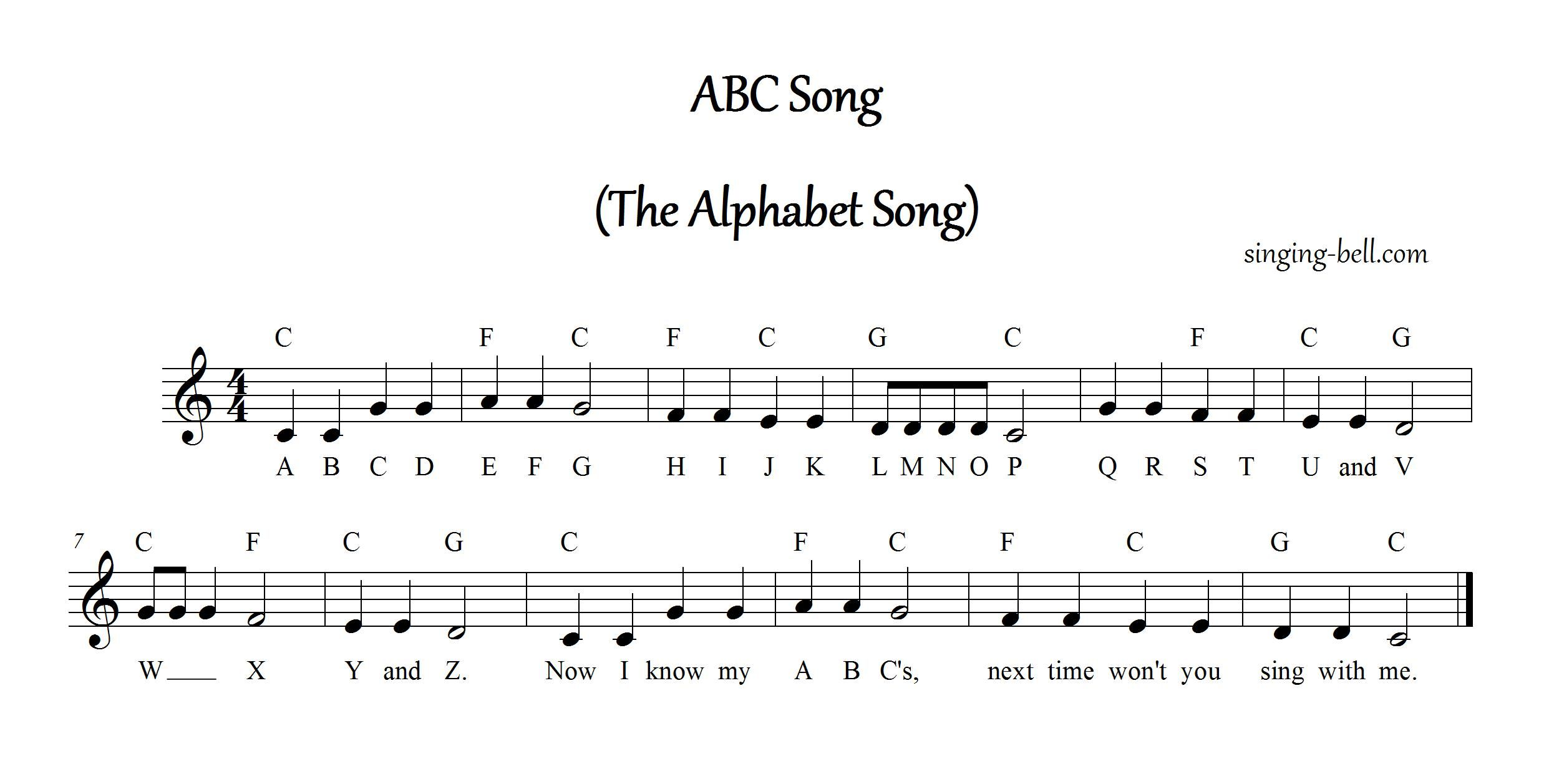 Image Result For Musical Scores With Lyrics For Children S