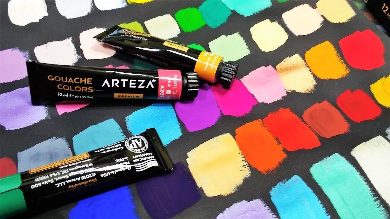 Arteza Gouache Metallic 60 Color Set Review The Frugal Crafter
