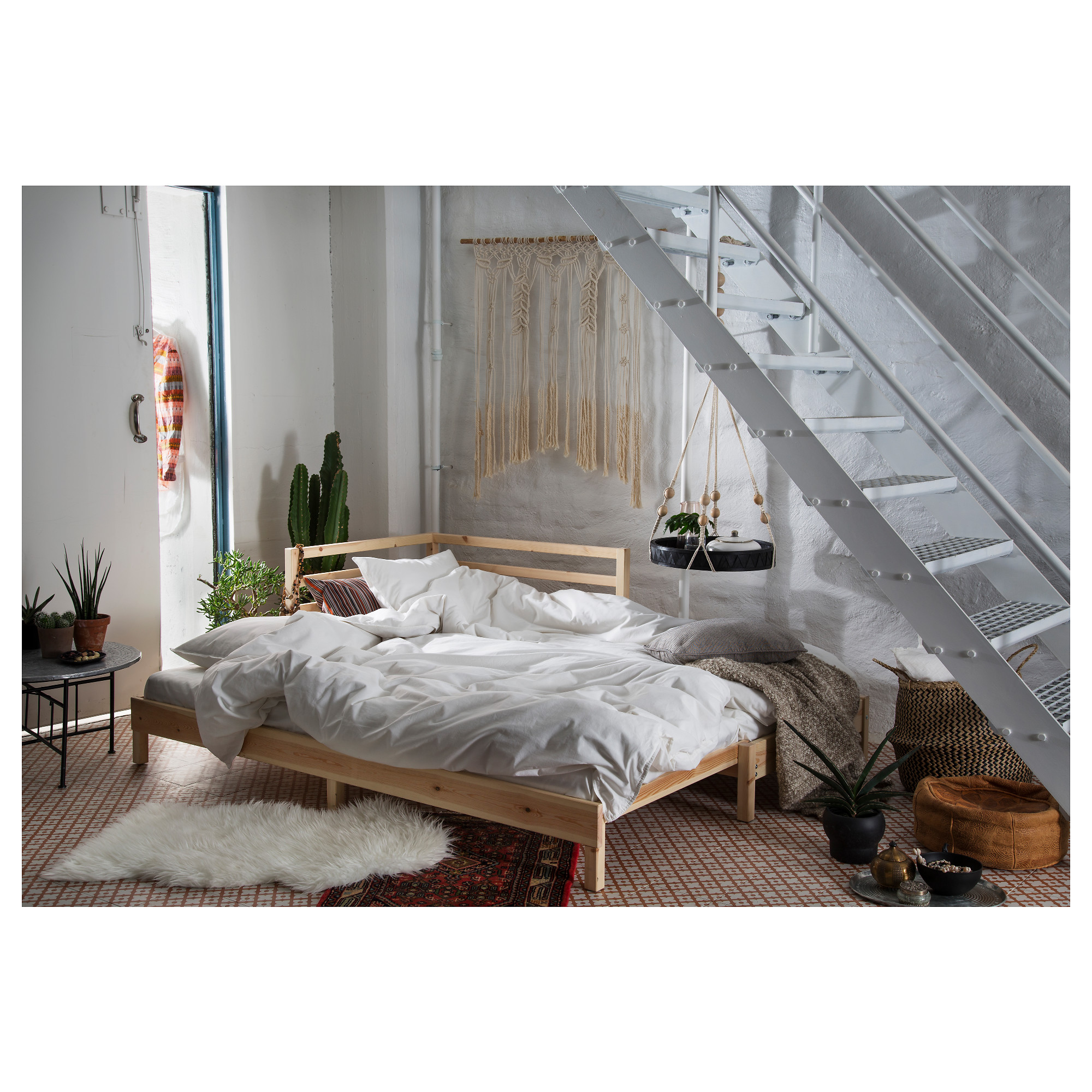 TARVA Daybed with 2 mattresses, pine, Husvika firm | Daybed ...