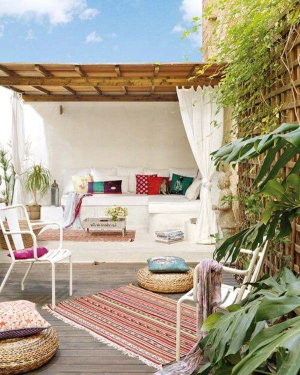 Überdachte Terrasse - 50 Top-Ideen für Terrassenüberdachung DIY - mediterrane terrassenberdachung