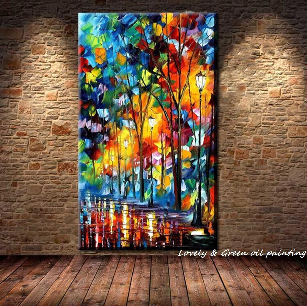 Comprar Grande Pintado A Mano Abstracta