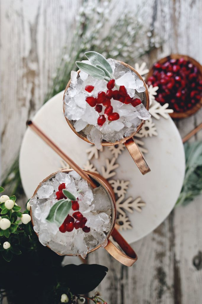 Christmas Cocktail Recipe Pomegranate Moscow Mule - Discover, A