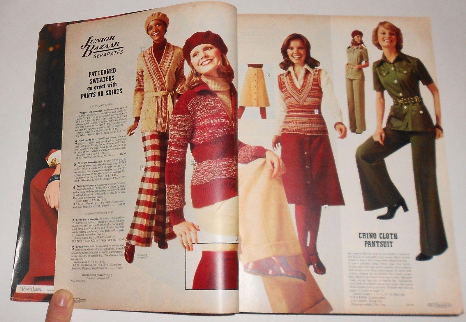 1975 SEARS Jr Bazaar 1970's plaid pants skirts
