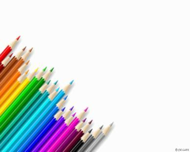 Colored Pencils powerpoint templates for teachers PPT themes