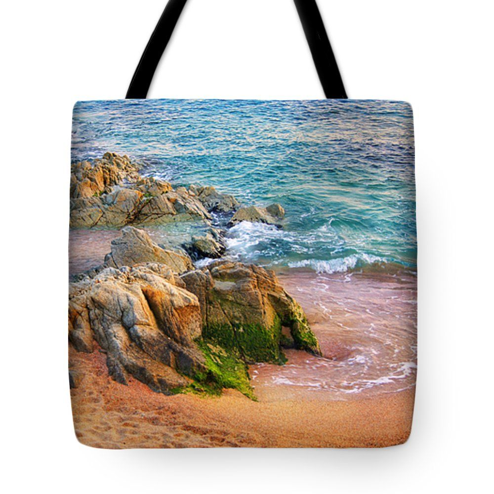 Rocks On The Shore Tote Bag by Marina Grey