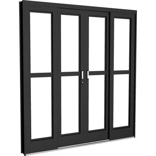 Sliding Steel Door 4 Sheets 2 Fixed 200x215x12 – Crv- Porta …