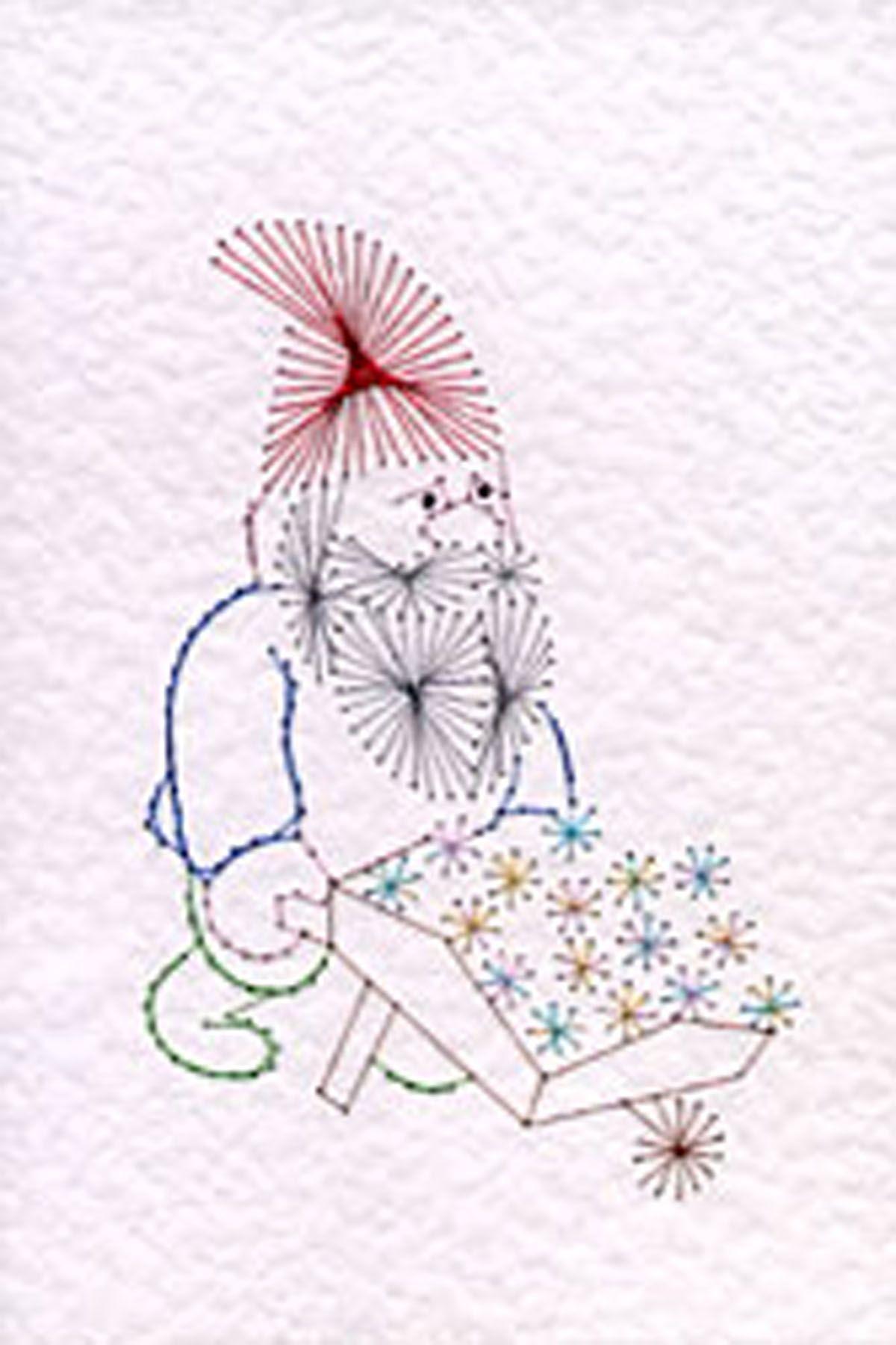 My Garden Gnome! | Cartes Brodées et Patrons | Pinterest