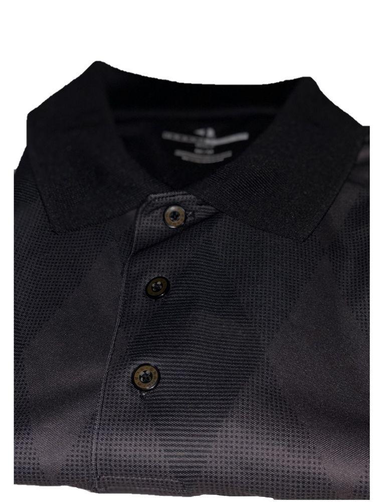 Grand slam mens dri fit argyle black golf polo shirt m