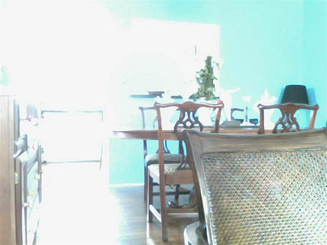 Looking To The Newly Painted Tiffany Blue Dining Room #with Chippendale  Chairs And Tommy Bahama