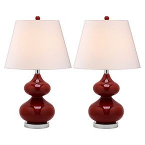 Safavieh Table Lamp - Chinese Red/White