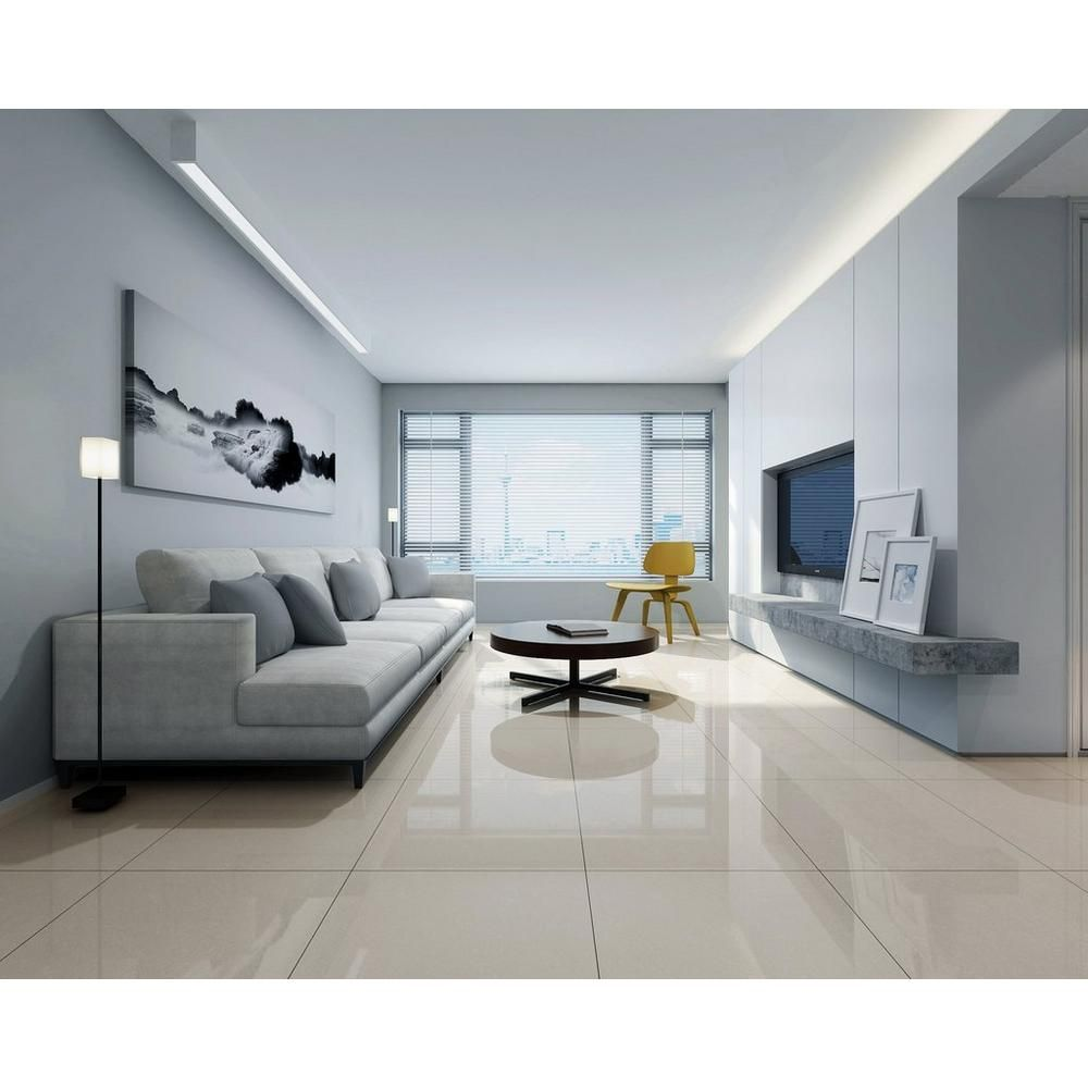 Seychelles Polished Porcelain Tile Floor Decor White Porcelain Tile White Floors Living Room Living Room Tiles