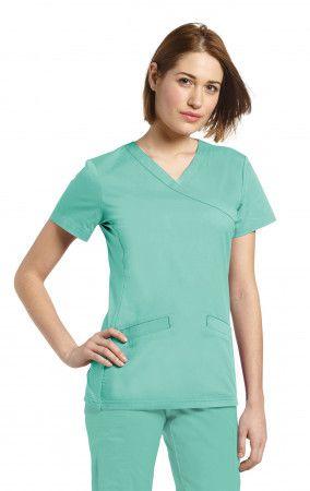 482f9c1a1df 742 - White Cross Allure Mock-Wrap Slim-Fit V-Neck Women top #medicalscrubs  #scrubs #whitecrossFIT #whitecross #whitecrossuniforms #whitecrossscrubs ...