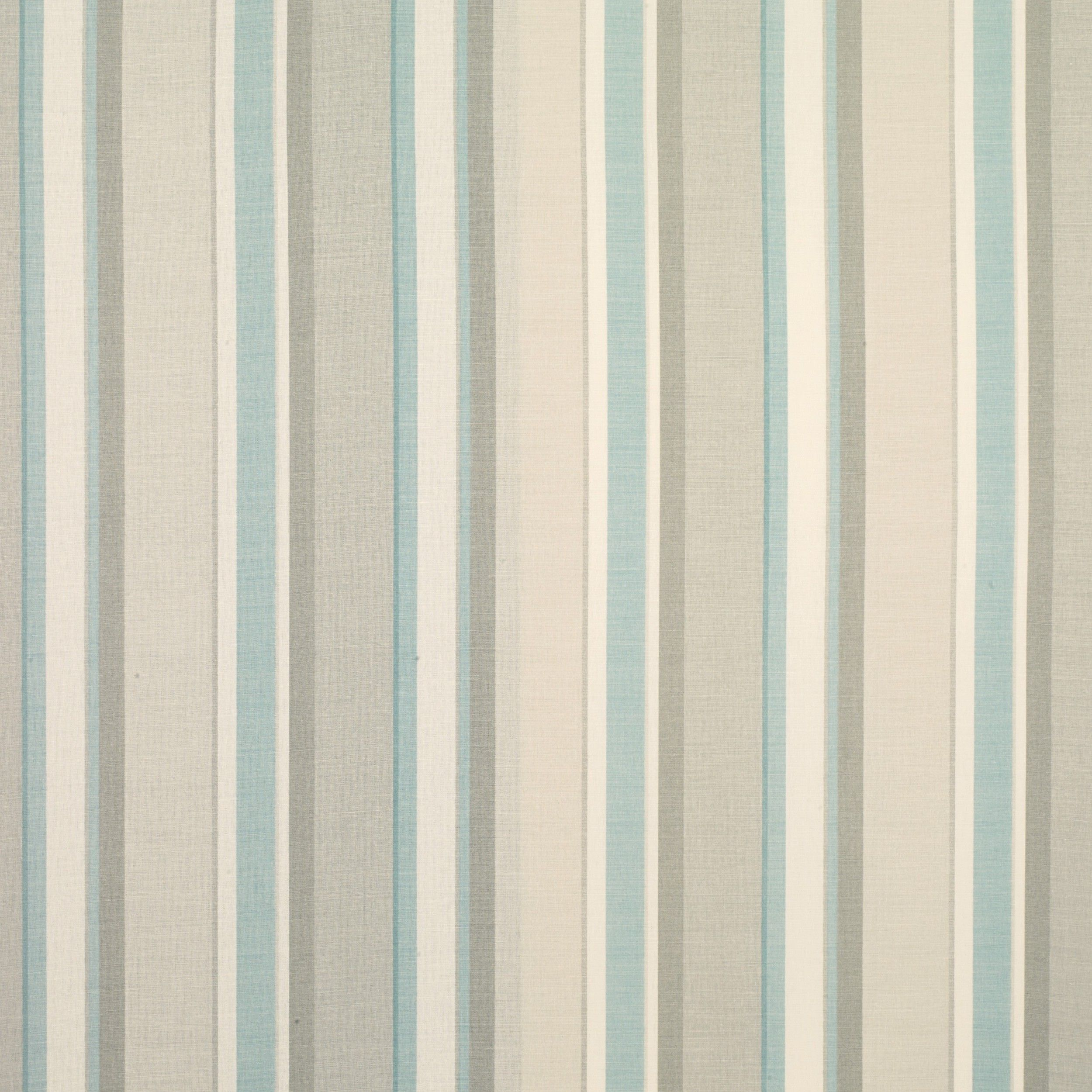 Eaton Stripe Linen/Cotton Fabric Duck Egg At LAURA ASHLEY