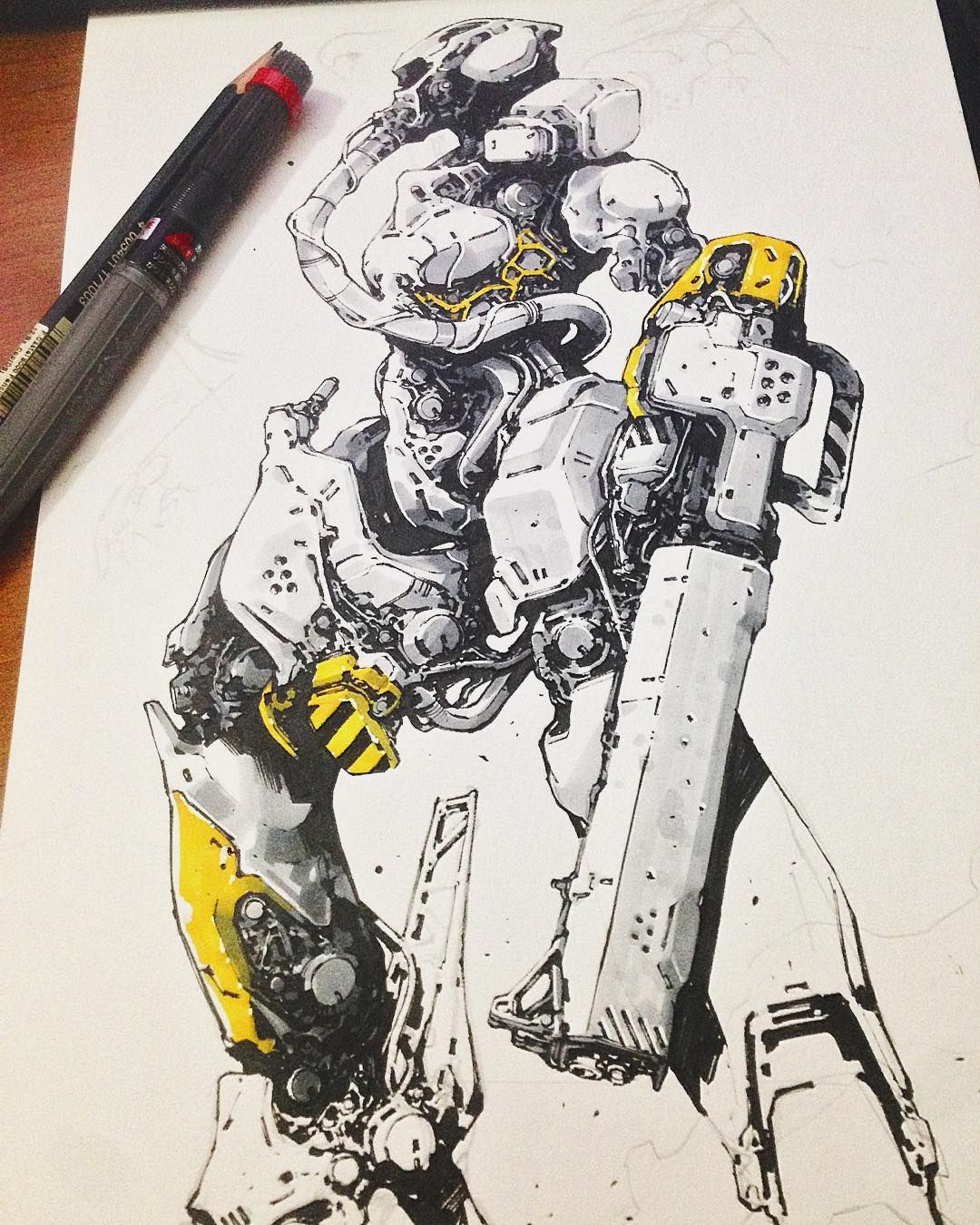 Pin By Dinar Kurmakov On Robots Mech Suit Drawings With Images