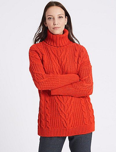 fashion buy good really comfortable Cable Knit Turtle Neck Jumper | sweaters | Turtle neck ...