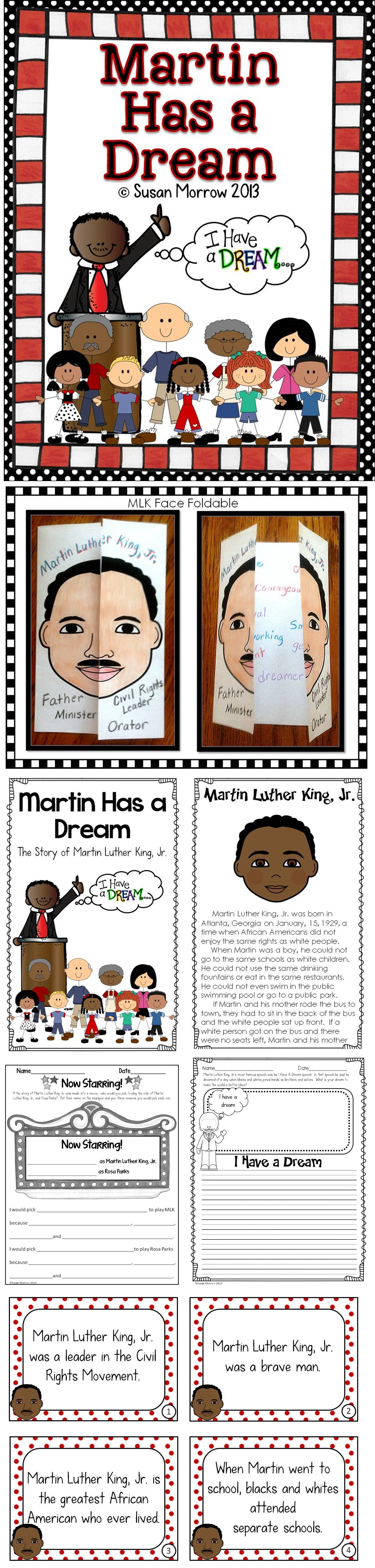 Martin Luther King Jr Informational Text And Activities