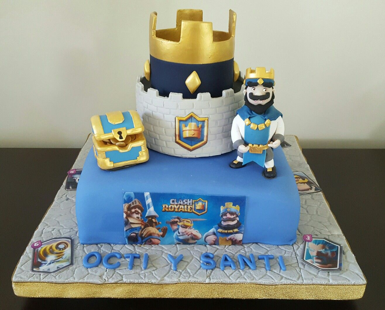 Pasteles Aniversarios Pictures To Pin On Pinterest: Torta Clash Royale