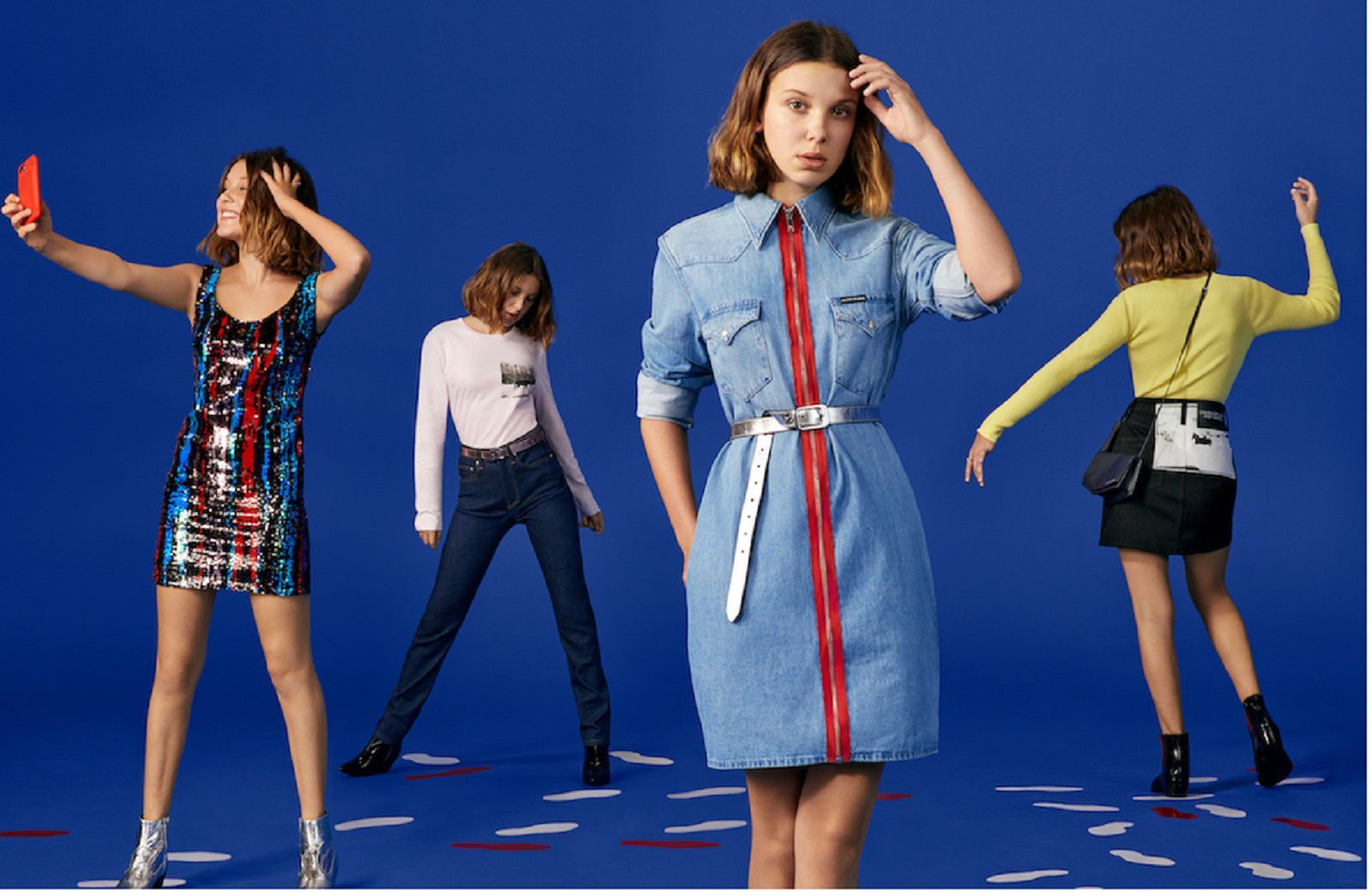 Millie Bobby Brown Brings Christmas To Calvin Klein The Stranger Things Actress Is The Star Of The Holiday 2018 Campaign Millie Bobby Brown Bobby Brown Millie