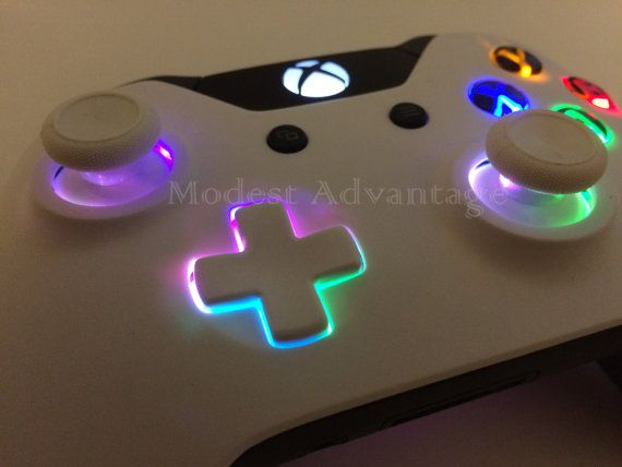 Xbox One controller underglow LED installation by