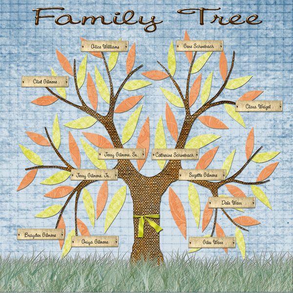 Scrapboking Family Tree Digital Scrapbooking Family Tree Template