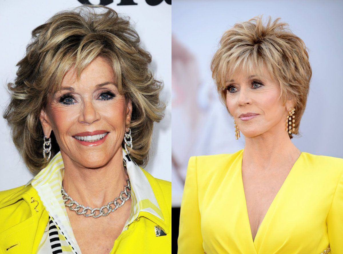 Jane Fonda Mature Women Short Hairstyles