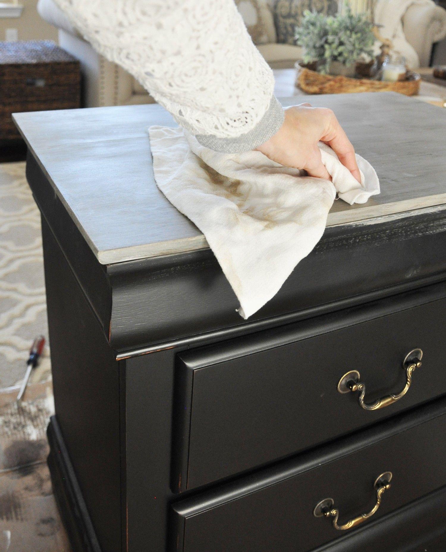 Nightstand Chalk Paint Tutorial Chalk Paint Bedroom Furniture Chalk Paint Tutorial Black Chalk Paint Furniture
